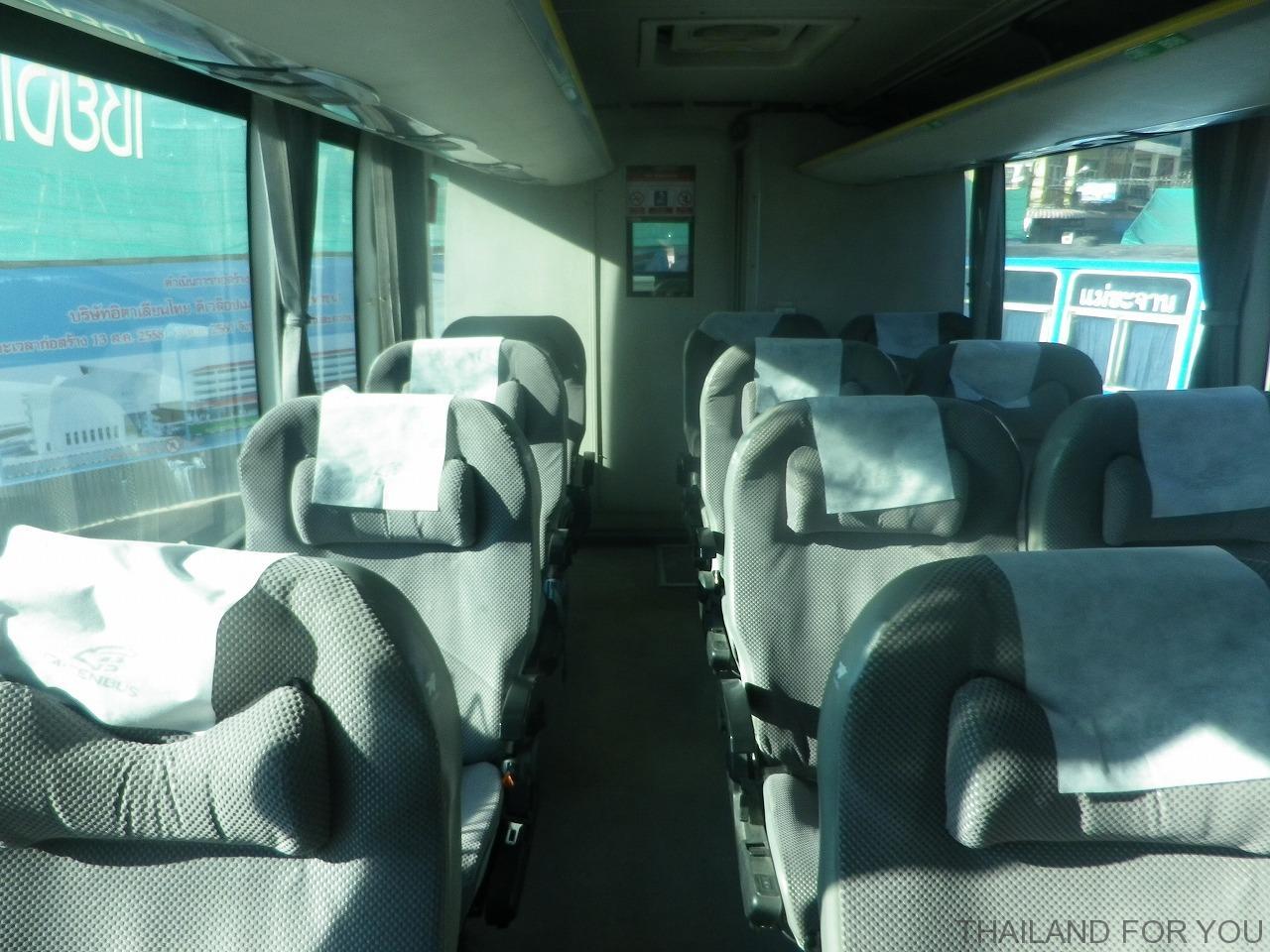 chiangraiチェンライ グリーンバス Greenbus VIP 車内 写真