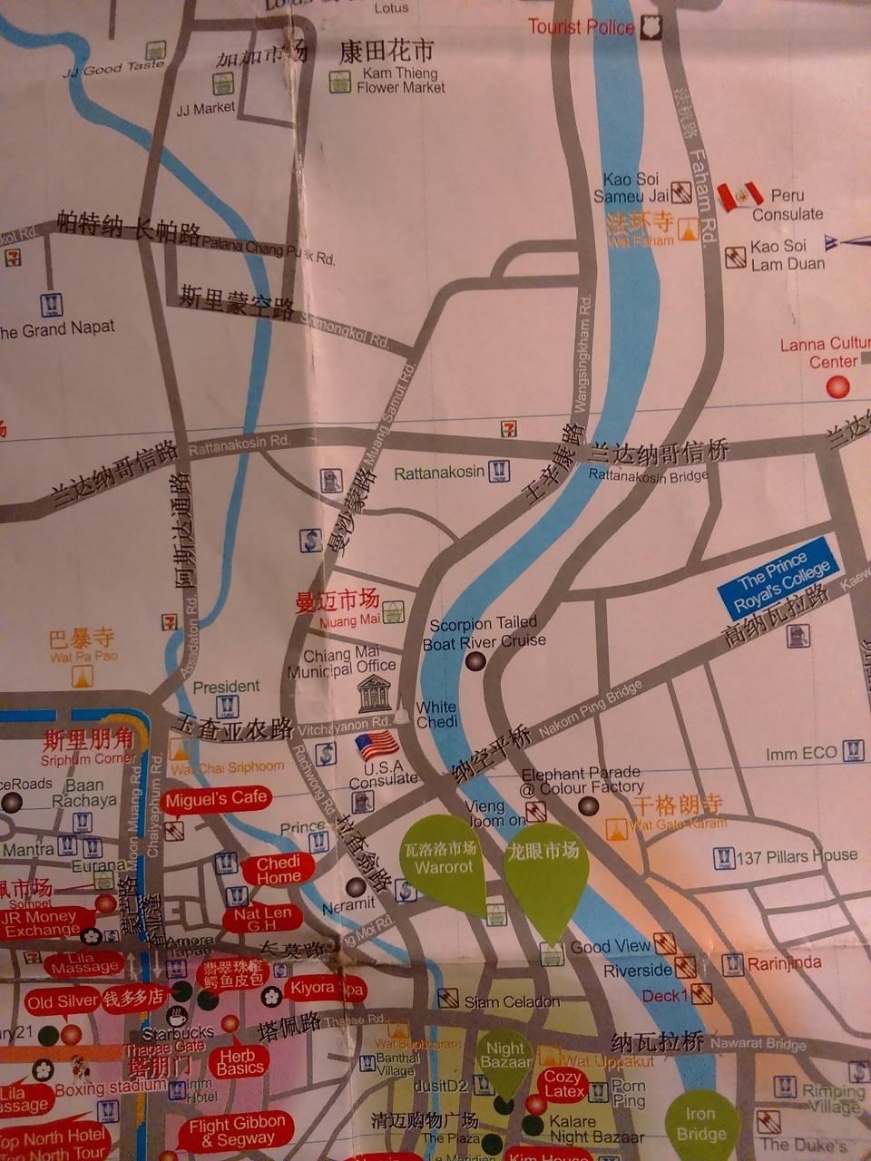 チェンマイ 地図