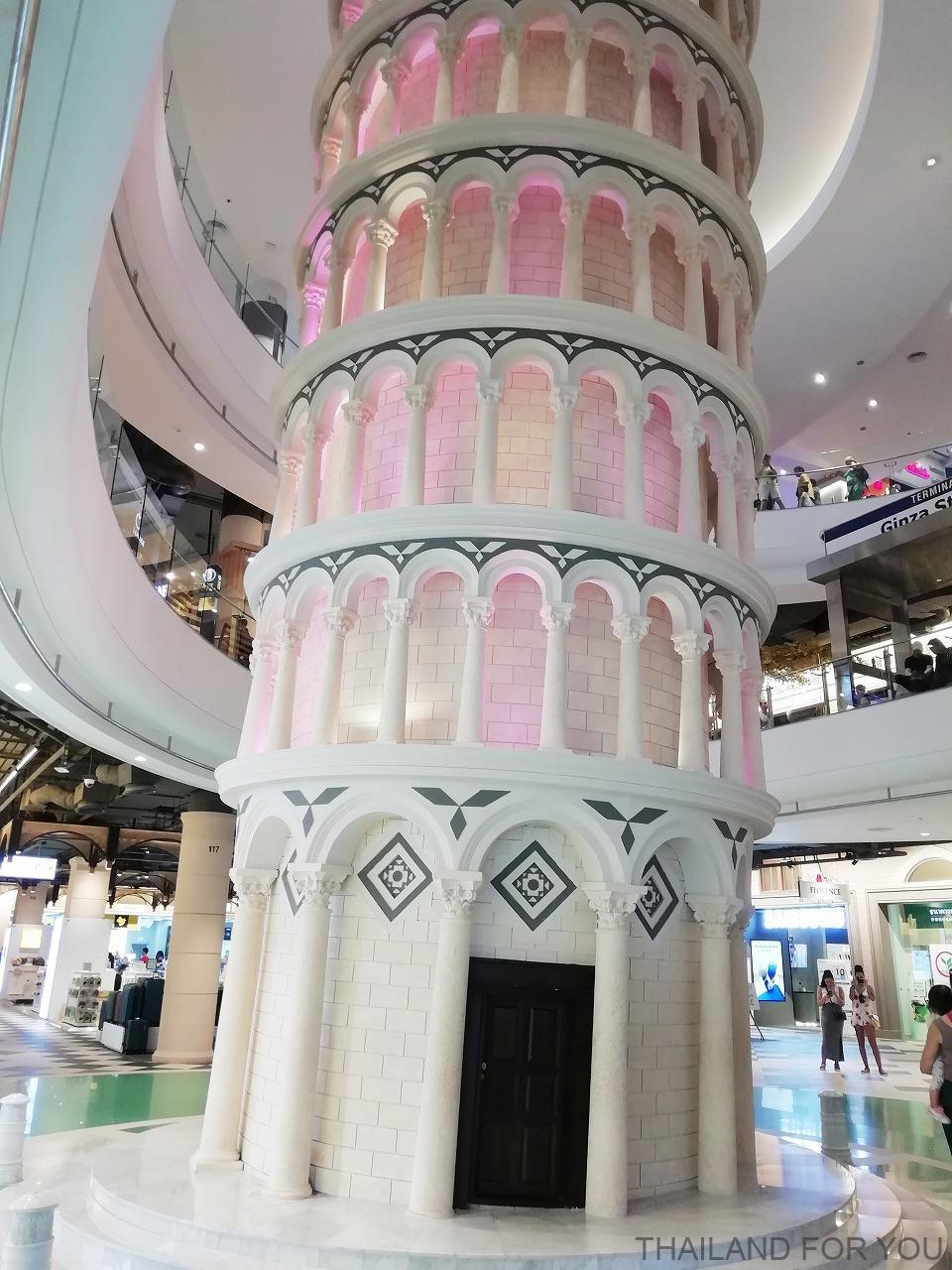 パタヤ ターミナル21 ピサの斜塔 イタリア